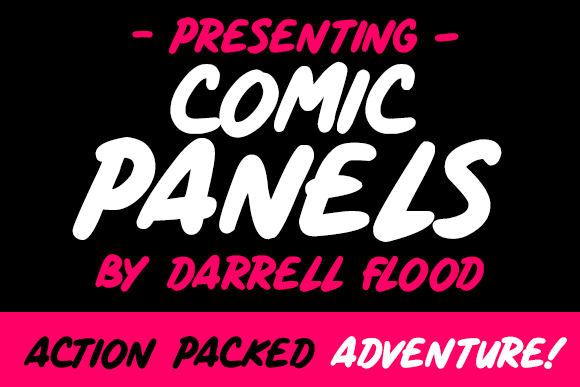 Print on Demand: Comic Panels Script & Handwritten Font By Dadiomouse