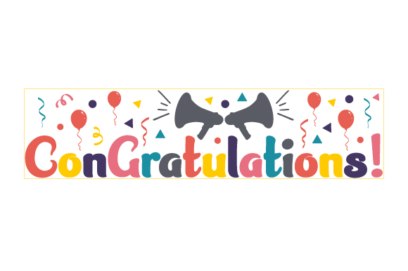 Download Free Congratulations Svg Plotterdatei Von Creative Fabrica Crafts for Cricut Explore, Silhouette and other cutting machines.