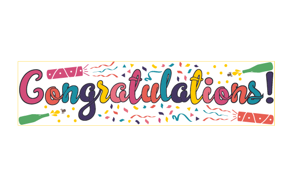 Download Free Congratulations Svg Cut File By Creative Fabrica Crafts for Cricut Explore, Silhouette and other cutting machines.