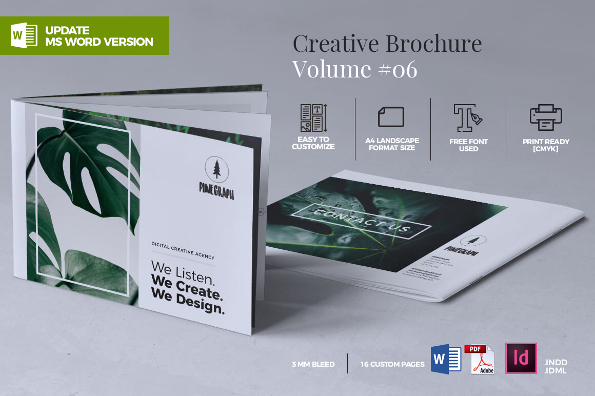 creative brochure design templates - creative brochure template graphic by rahardidesign
