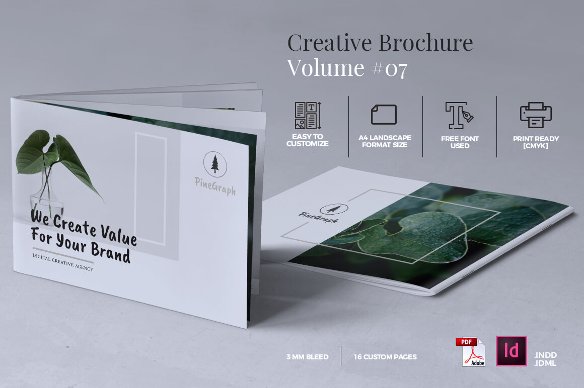 Download Free Creative Brochure Template Graphic By Rahardidesign Creative for Cricut Explore, Silhouette and other cutting machines.
