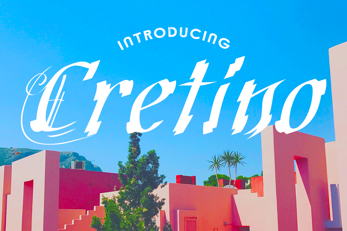 Print on Demand: Cretino Display Font By Typodermic