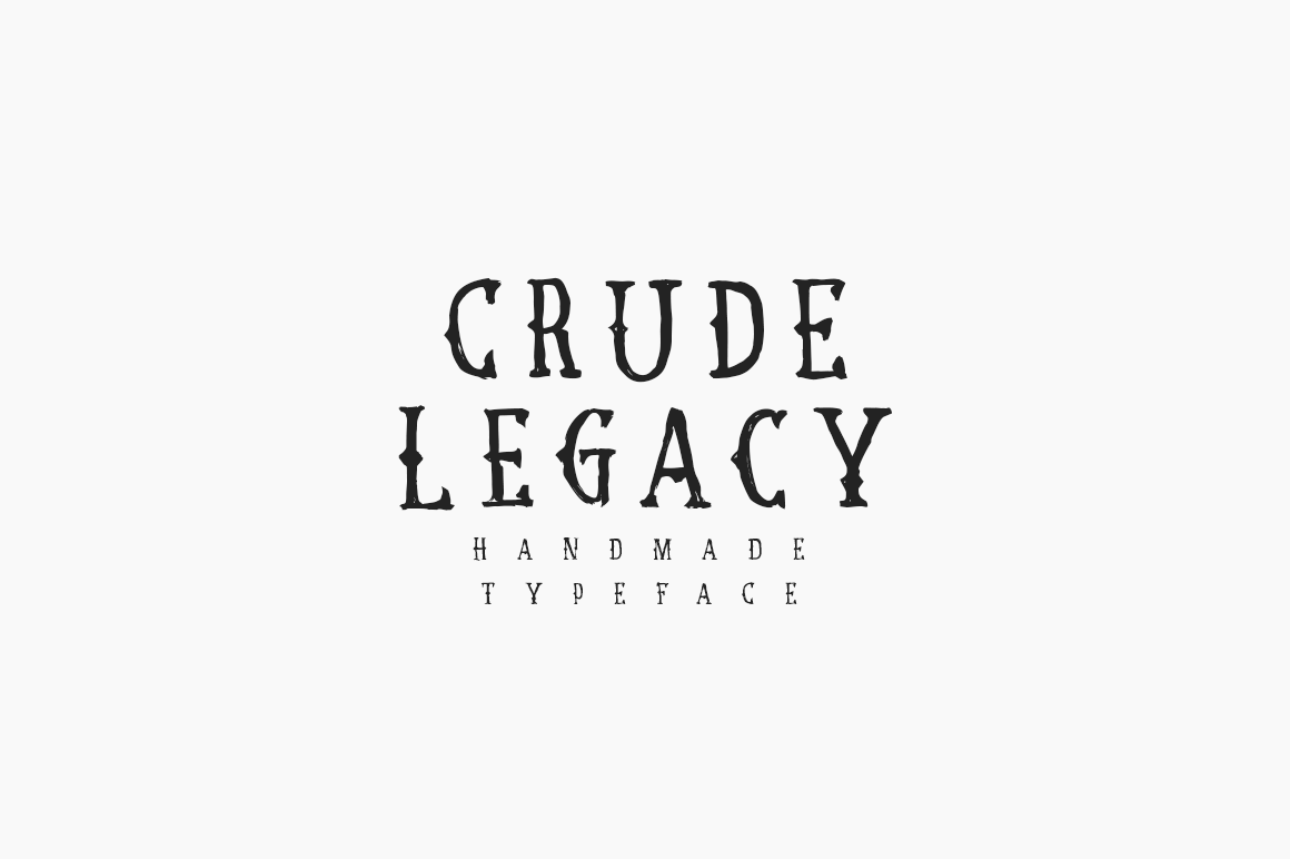 Print on Demand: Crude Legacy Blackletter Font By Mirco Zett Fonts