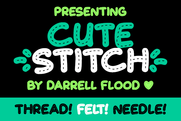 Print on Demand: Cute Stitch Display Font By Dadiomouse