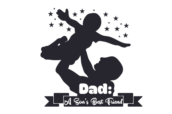 Download Free Dad A Son S Best Friend Svg Cut File By Creative Fabrica Crafts for Cricut Explore, Silhouette and other cutting machines.
