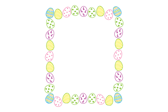 Decorative Easter Eggs Border Easter Craft Cut File By Creative Fabrica Crafts