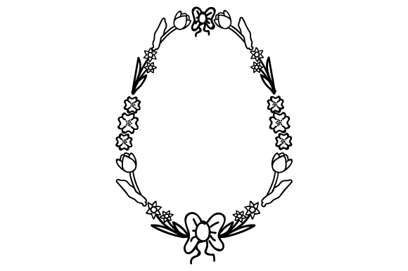 Download Free Decorative Easter Eggs Border Svg Cut File By Creative Fabrica for Cricut Explore, Silhouette and other cutting machines.