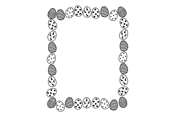 Decorative Easter Eggs Border Easter Craft Cut File By Creative Fabrica Crafts - Image 2