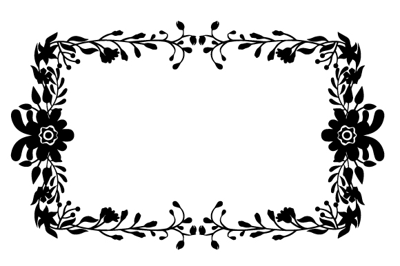Download Free Decorative Floral Border Svg Cut File By Creative Fabrica Crafts for Cricut Explore, Silhouette and other cutting machines.