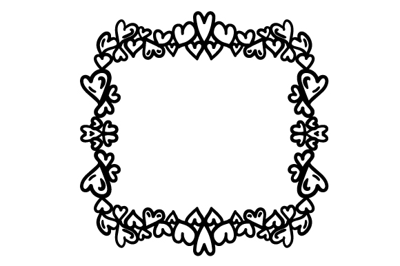 Download Free Decorative Heart Border Svg Cut File By Creative Fabrica Crafts for Cricut Explore, Silhouette and other cutting machines.