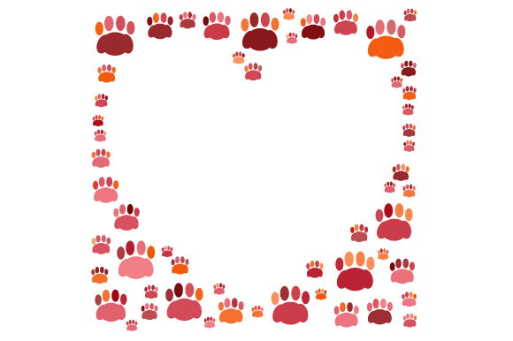 Download Free Decorative Paw Prints Border Svg Cut File By Creative Fabrica for Cricut Explore, Silhouette and other cutting machines.