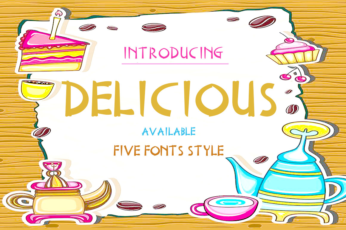 Print on Demand: Delicious Serif Font By Haksen - Image 1