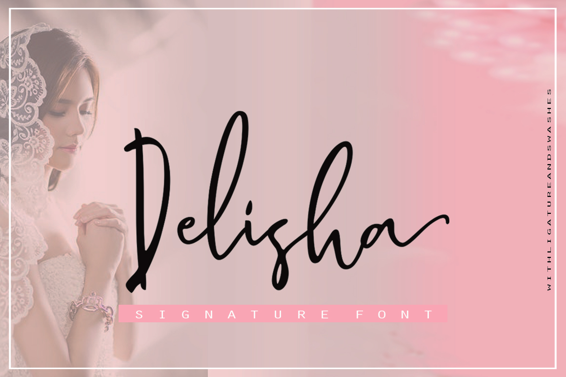 Print on Demand: Delisha Script & Handwritten Font By delishadesign.font