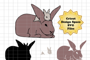 Download Free Easter Bunny And Baby Graphic By Sneaky Fox Entertainment for Cricut Explore, Silhouette and other cutting machines.
