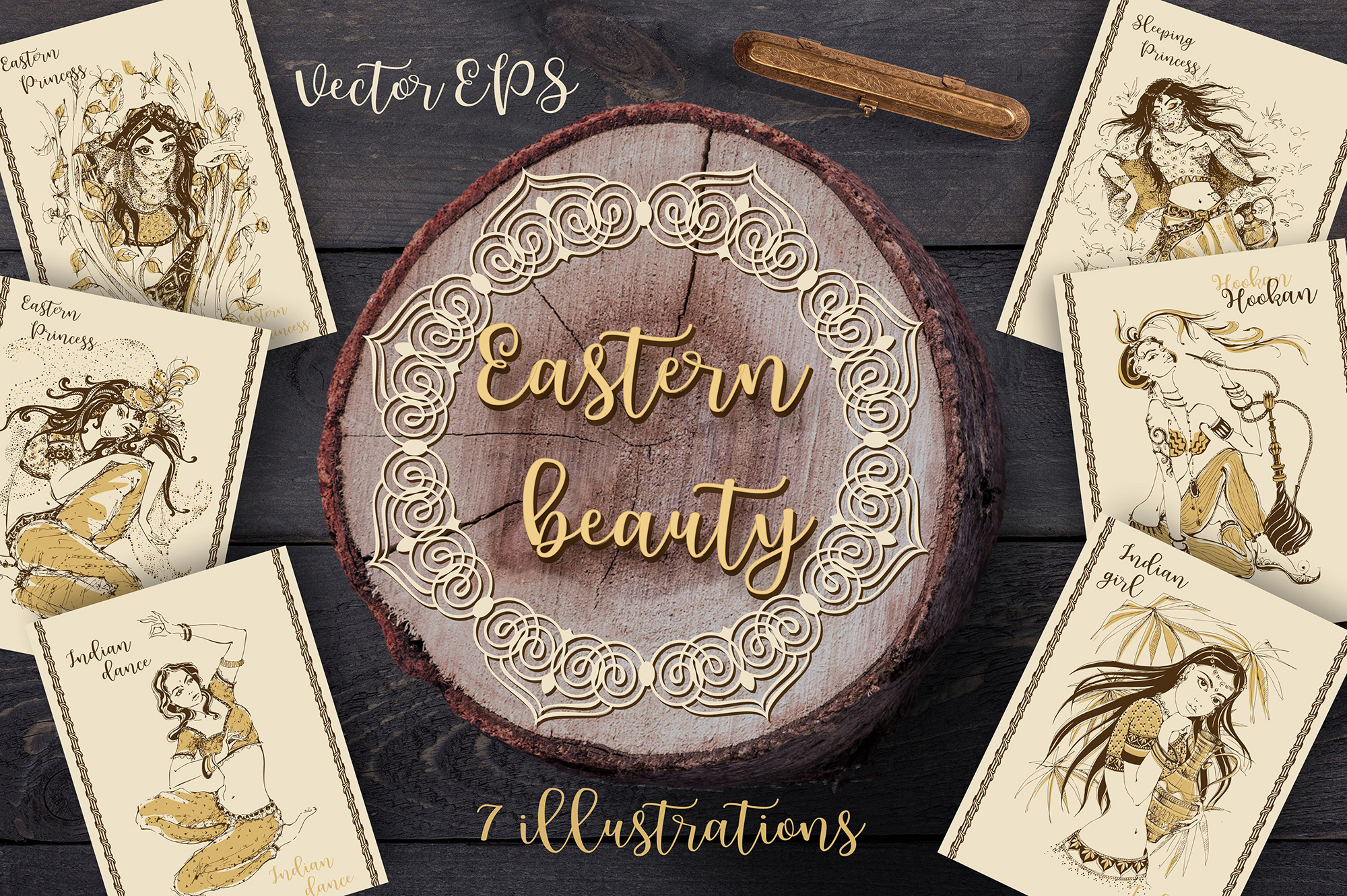 Eastern Beauty Graphic People By grigaola