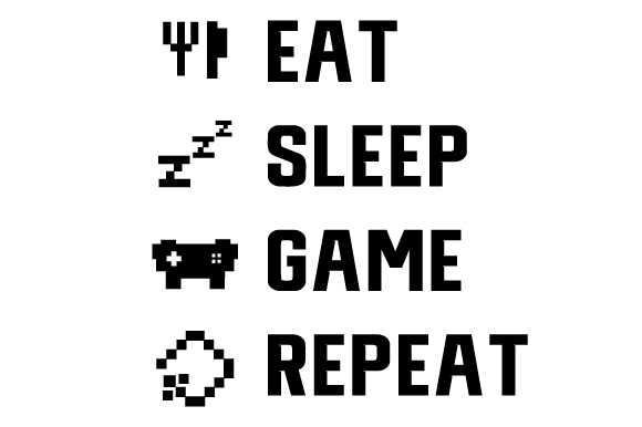 Eat Sleep Game Repeat Svg Cut Files New Free Download 346778231 Svg Icon Files