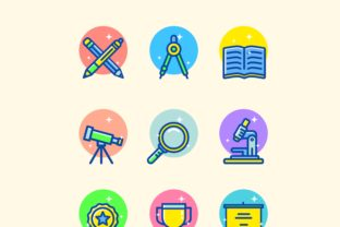 Education Icon Set Graphic By herbanuts