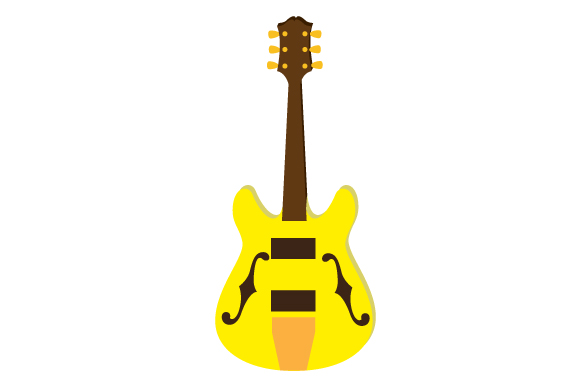 Download Free Electric Guitar Svg Cut File By Creative Fabrica Crafts for Cricut Explore, Silhouette and other cutting machines.
