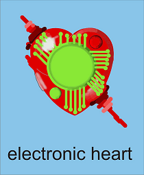 Electronic Heart Graphic By Gustavo Lucero