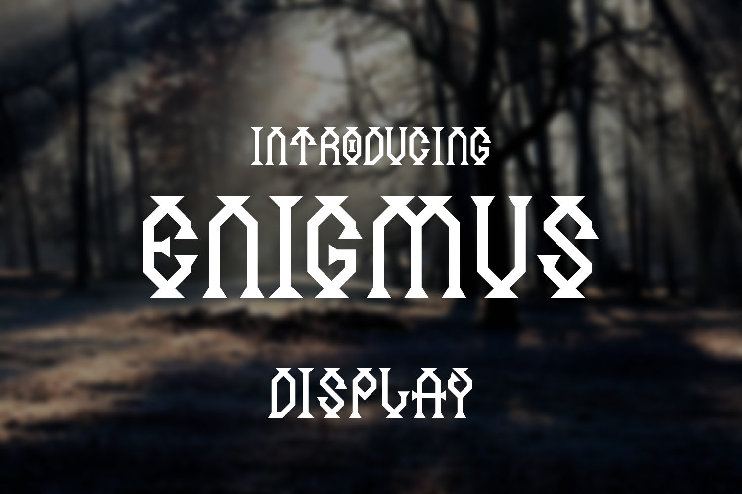Print on Demand: Enigmus Display Font By TypEra