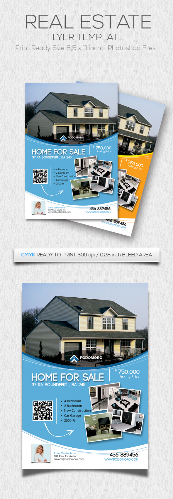 Print on Demand: Estate Flyer Graphic Print Templates By Hustletter
