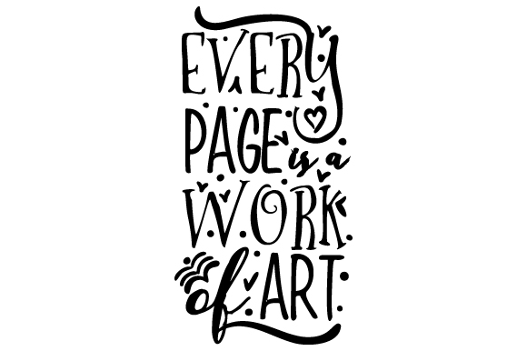 Every Page is a Work of Art Craft Design By Creative Fabrica Crafts