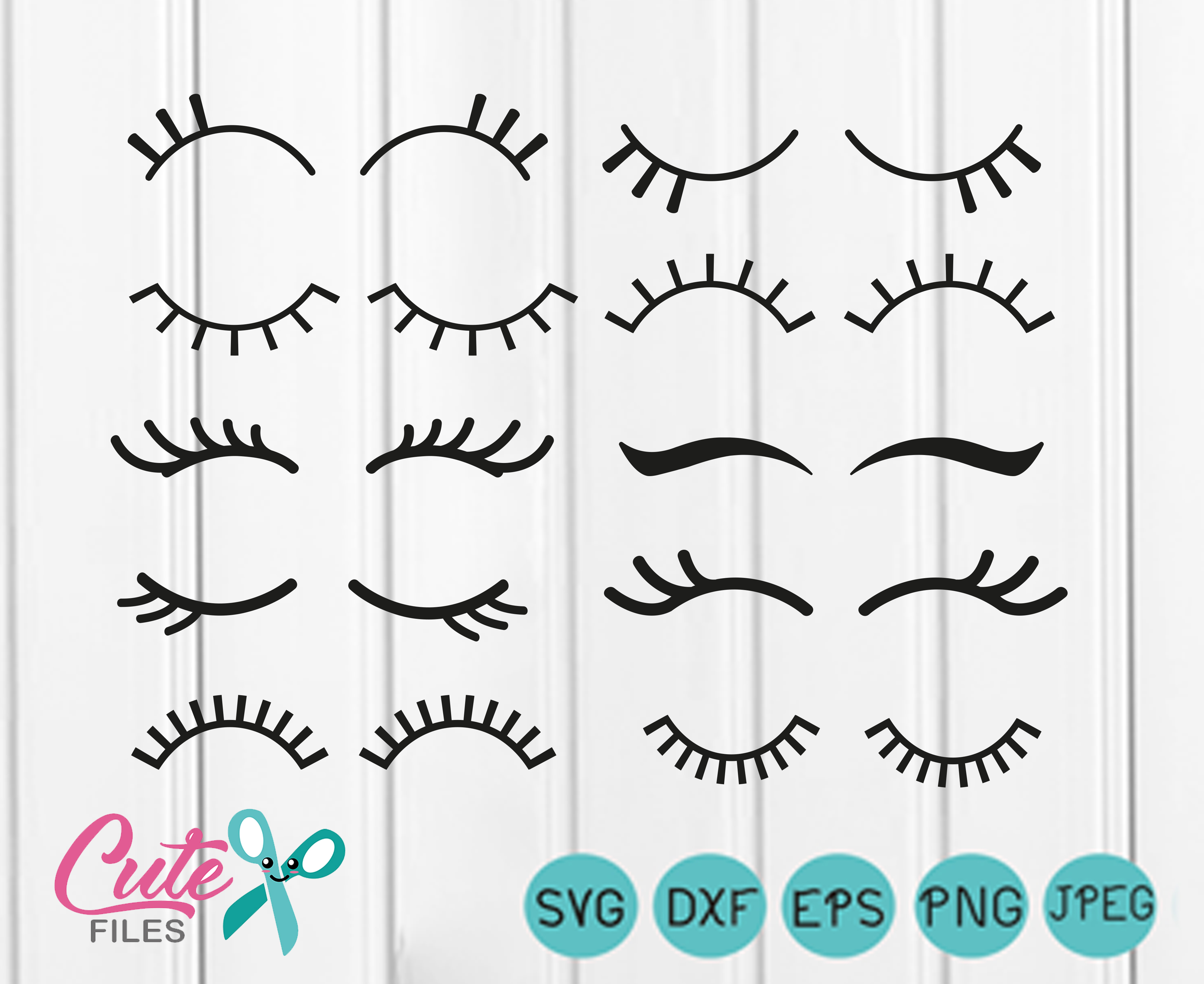 Eyelashes Graphic By Cute Files Creative Fabrica