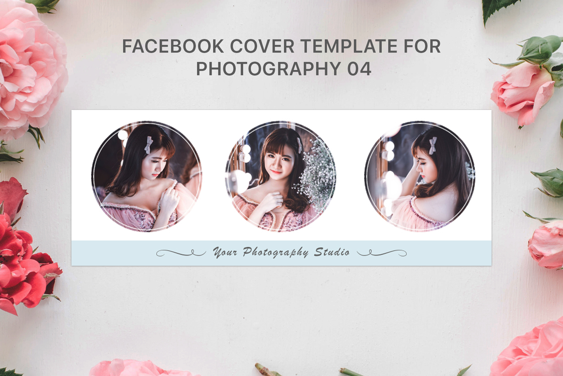Print on Demand: Facebook Cover Template for Fashion Photography Graphic Web Templates By Creative Tacos