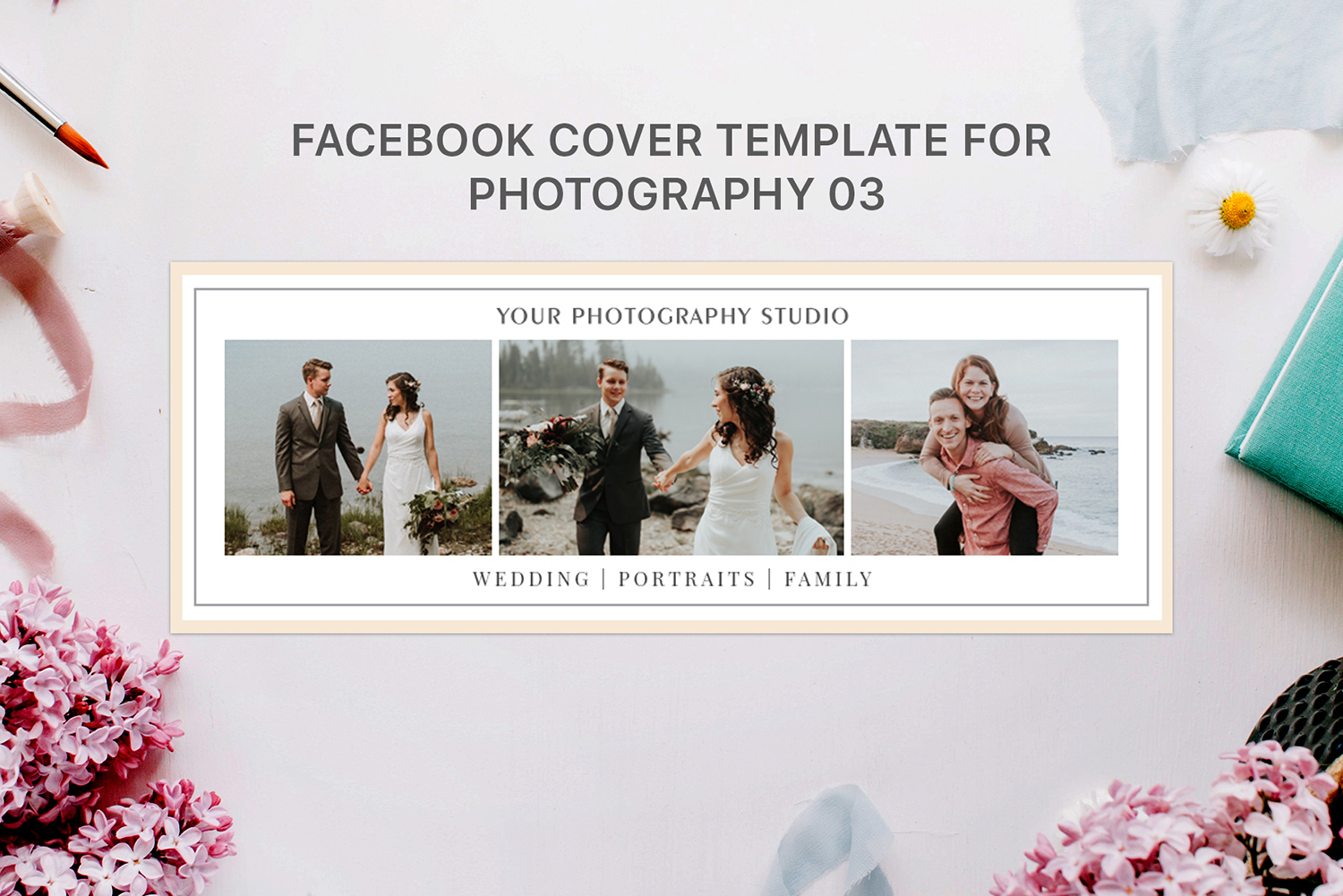 Print on Demand: Facebook Cover Template for Photography Graphic Web Templates By Creative Tacos