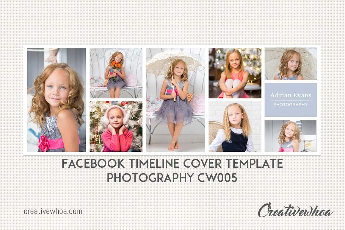 Print on Demand: Facebook Timeline Cover Template Photography Graphic Graphic Templates By Creative Tacos - Image 1