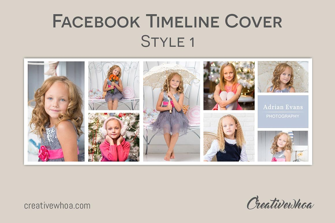 Print on Demand: Facebook Timeline Cover Template Photography Graphic Graphic Templates By Creative Tacos - Image 3