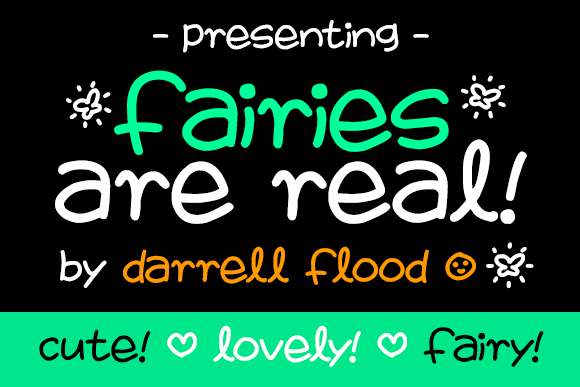 Print on Demand: Fairies Are Real Script & Handwritten Font By Dadiomouse
