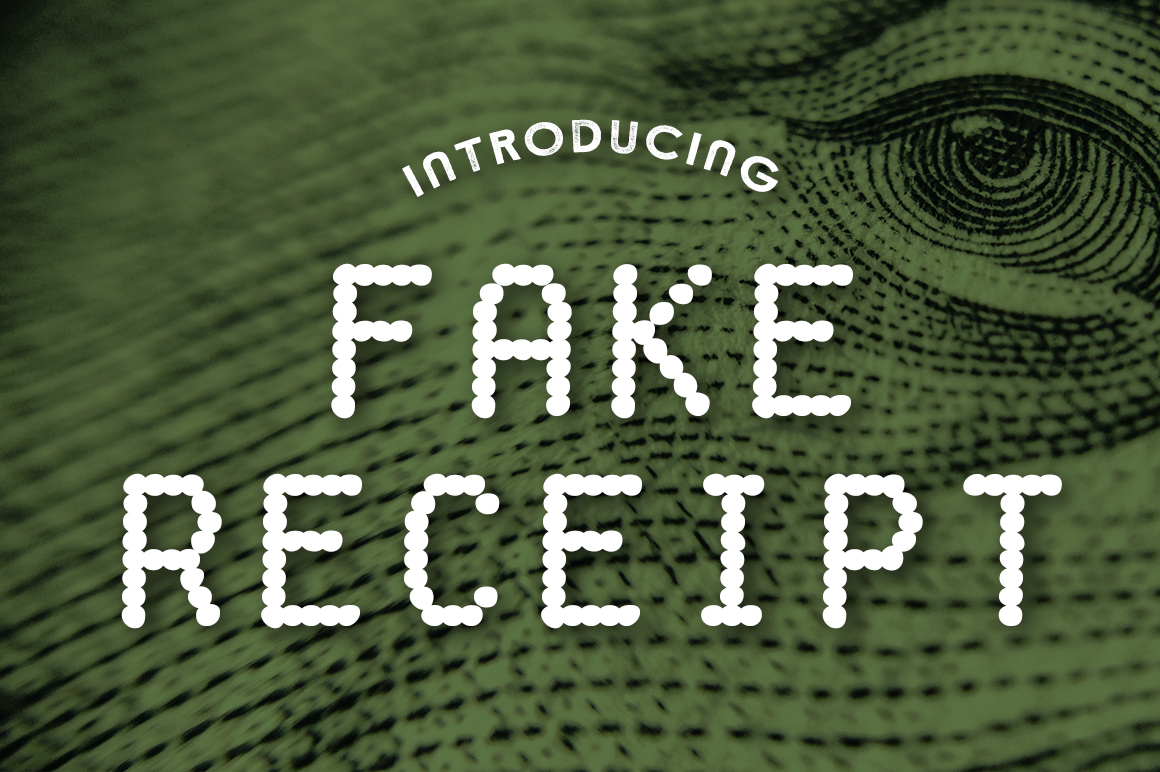 Print on Demand: Fake Receipt Decorative Font By Typodermic