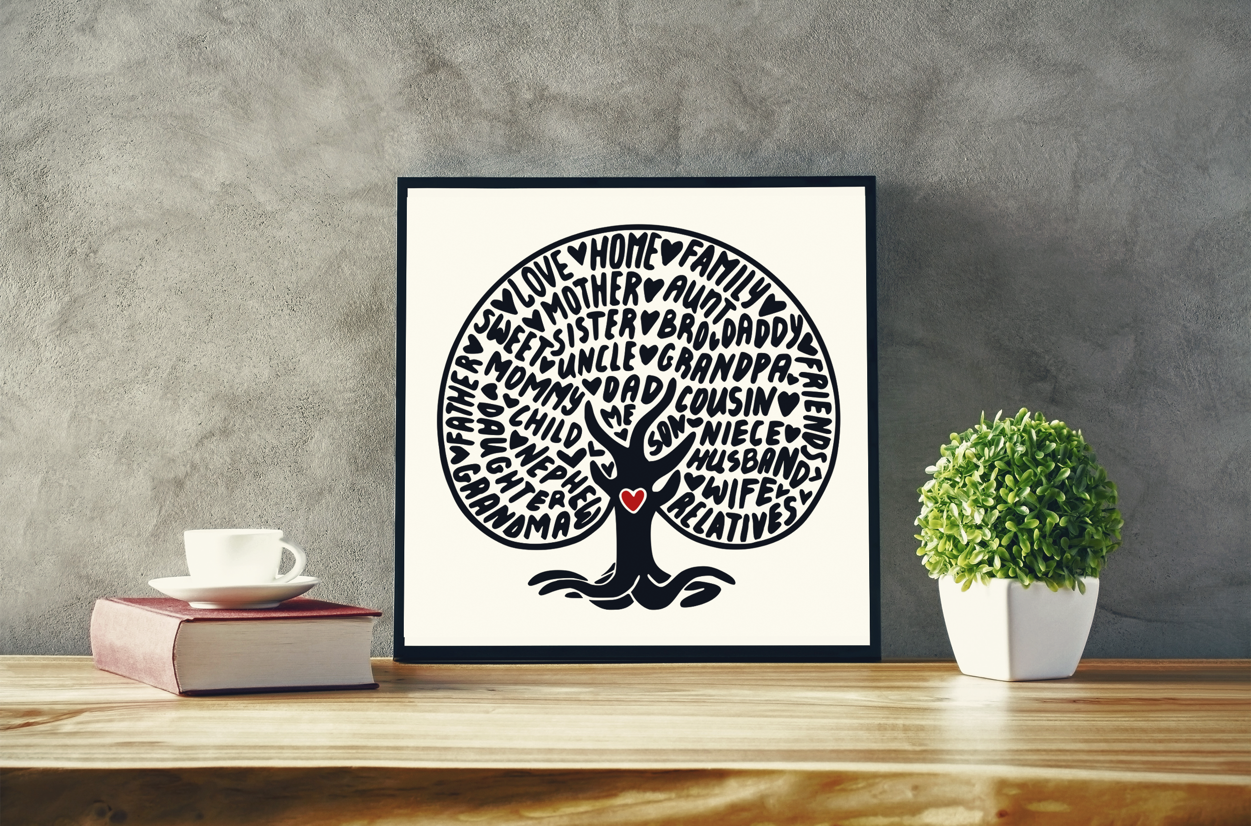 Family Tree SVG Graphic By CrystalGiftsStudio Image 2