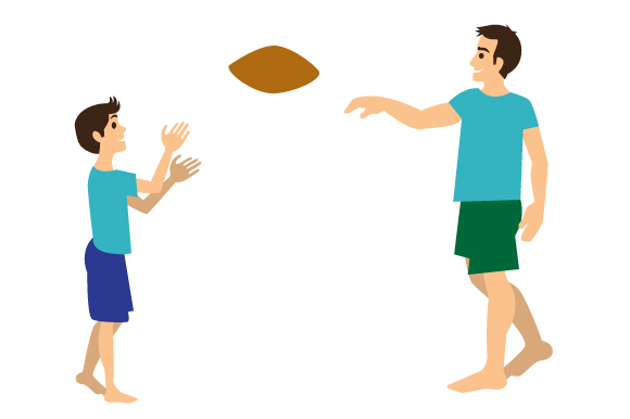 Father and Son Playing Football Father's Day Craft Cut File By Creative Fabrica Crafts