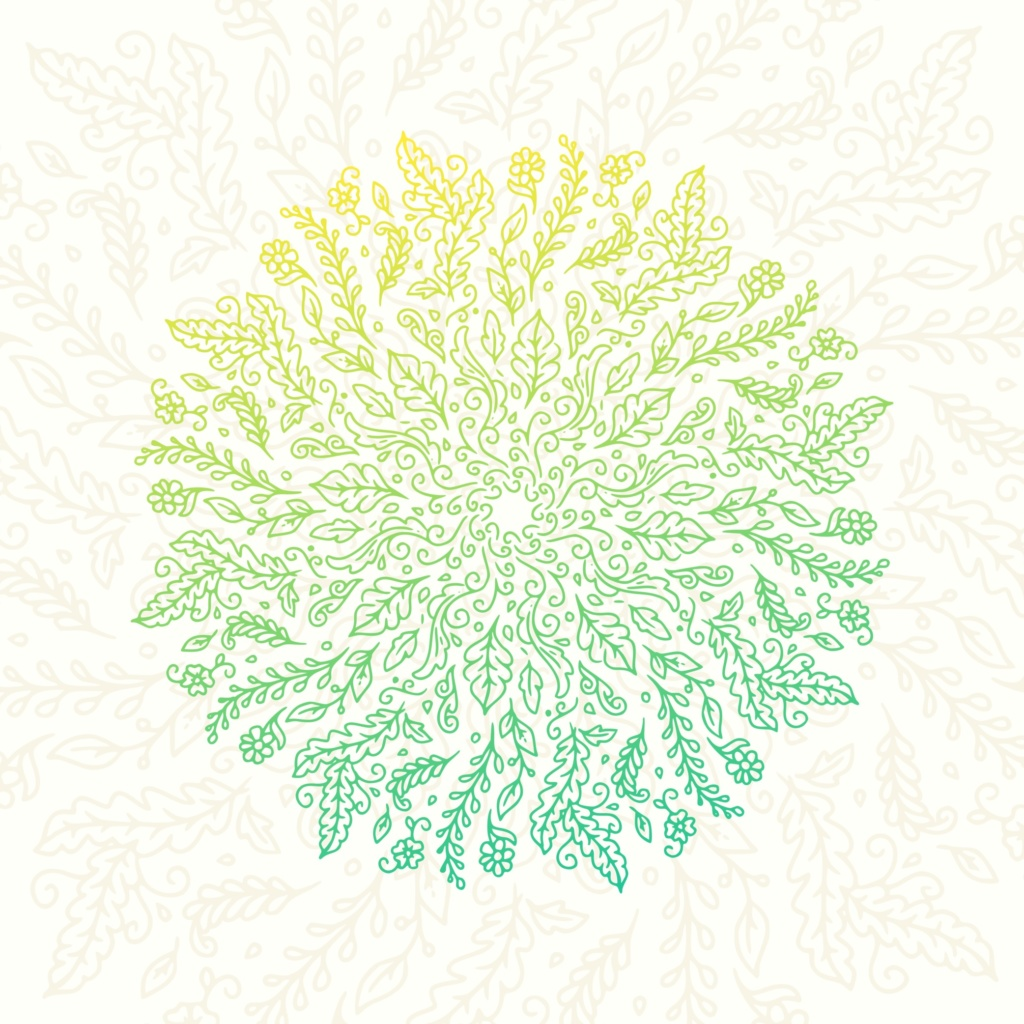 Download Free Floral Doodle Mandala Svg Cut File By Herbanuts Creative Fabrica for Cricut Explore, Silhouette and other cutting machines.