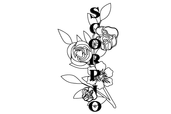 Download Free Floral Scorpio Svg Cut File By Creative Fabrica Crafts for Cricut Explore, Silhouette and other cutting machines.