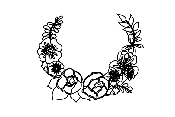 Download Free Floral Wreath 2 Svg Cut File By Creative Fabrica Crafts for Cricut Explore, Silhouette and other cutting machines.