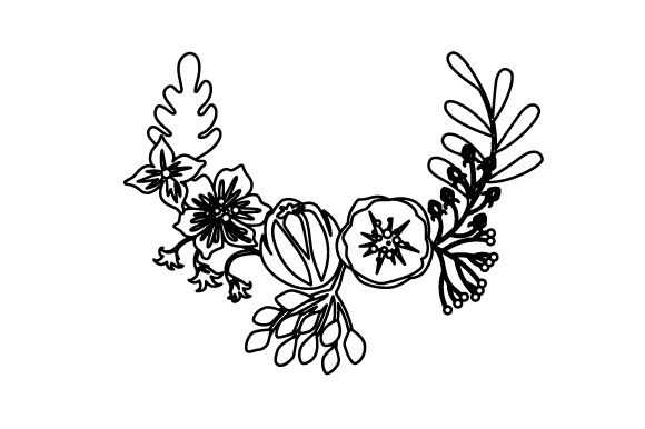 Floral Wreath 3 Svg Cut File By Creative Fabrica Crafts