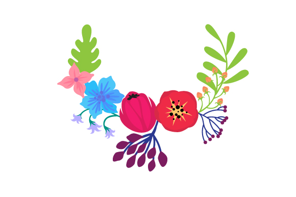 Download Free Floral Wreath 3 Svg Cut File By Creative Fabrica Crafts for Cricut Explore, Silhouette and other cutting machines.