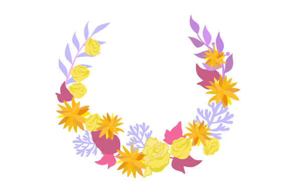 Download Free Floral Wreath Svg Cut File By Creative Fabrica Crafts Creative for Cricut Explore, Silhouette and other cutting machines.