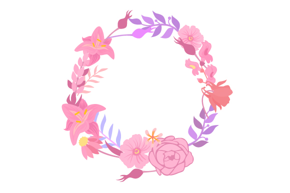 Floral Wreath Designs & Drawings Craft Cut File By Creative Fabrica Crafts