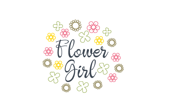 Download Free Flower Girl Svg Cut File By Creative Fabrica Crafts Creative for Cricut Explore, Silhouette and other cutting machines.