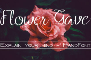 Flower Grave Font By harizandy