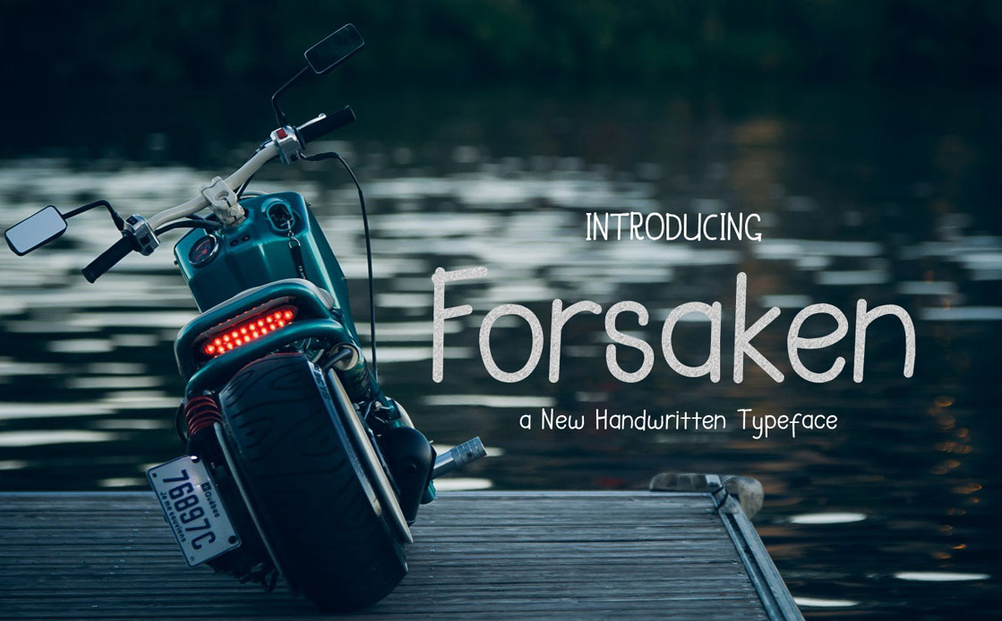 Print on Demand: Forsaken Display Font By VanRoem