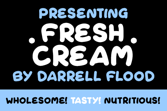 Print on Demand: Fresh Cream Script & Handwritten Font By Dadiomouse