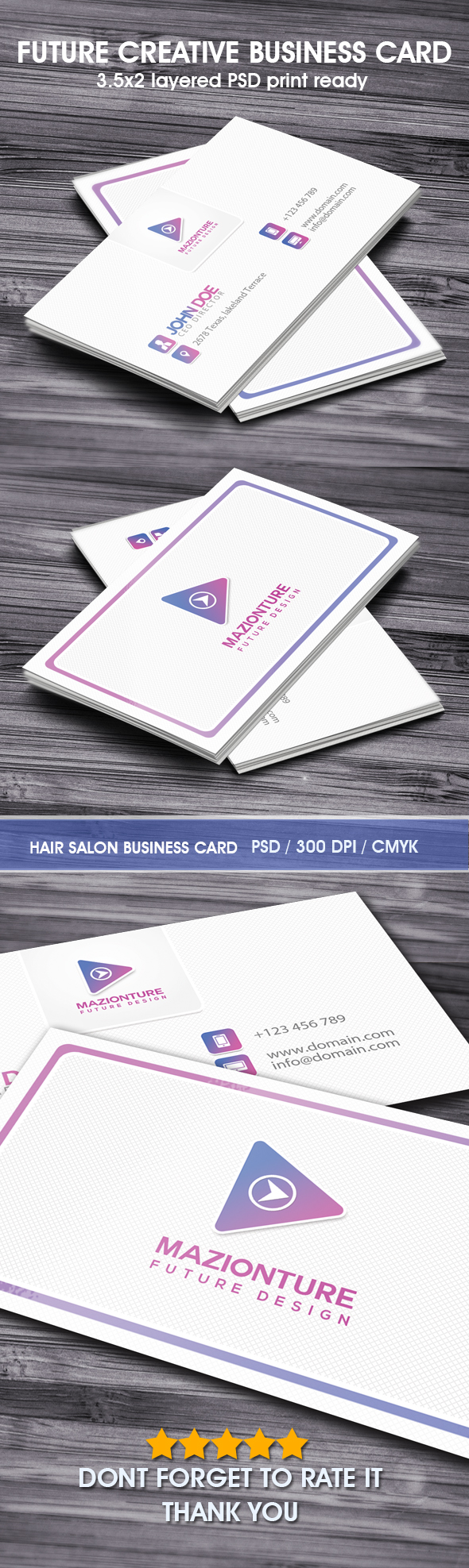 Print on Demand: Future Design Business Card Graphic Print Templates By Hustletter