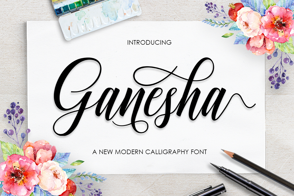Print on Demand: Ganesha Script Script & Handwritten Font By Lettersams