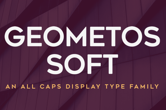 Print on Demand: Geometos Soft Sans Serif Font By Deepak Dogra
