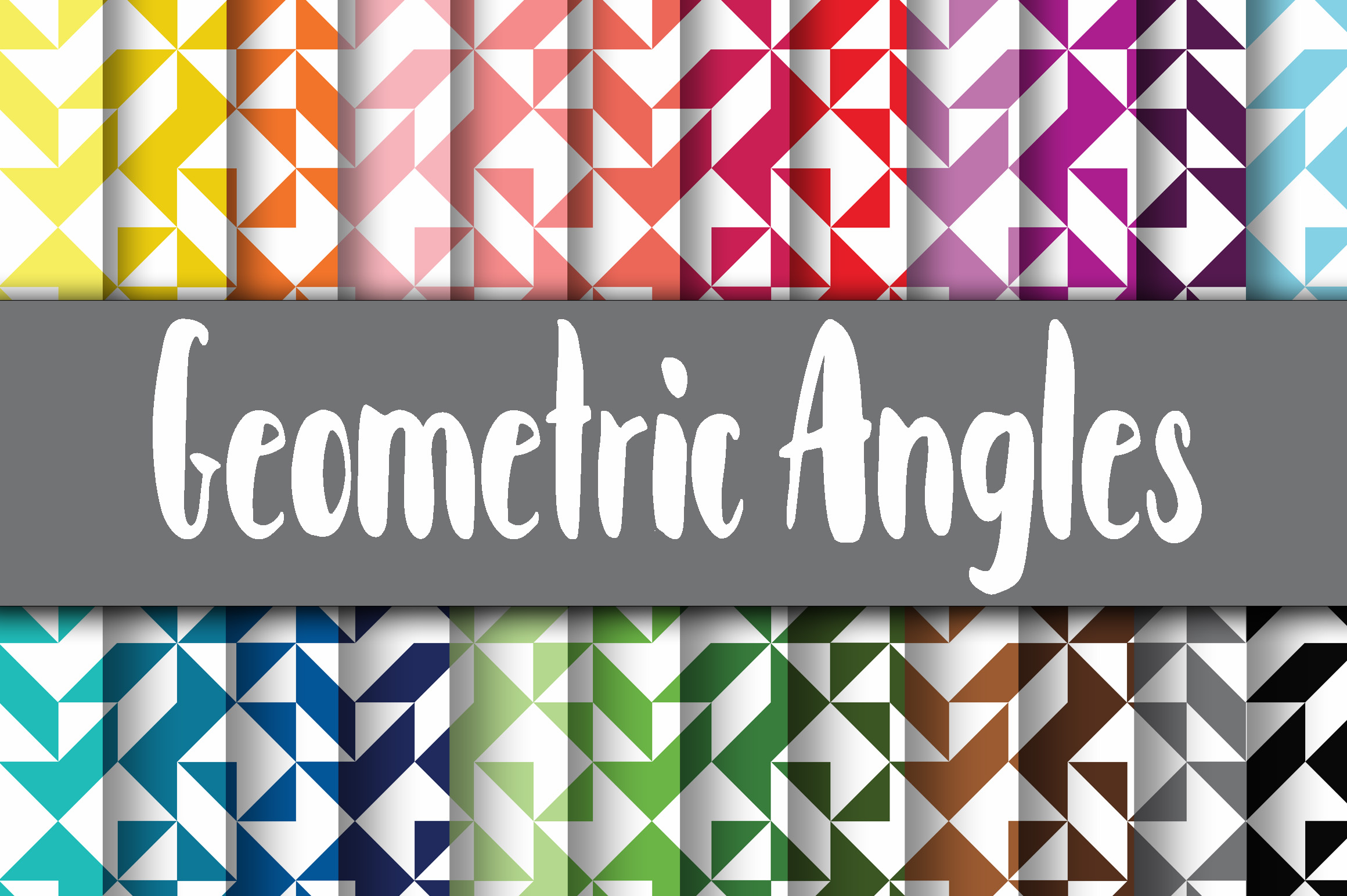 Print on Demand: Geometric Angles Digital Papers Graphic Backgrounds By oldmarketdesigns